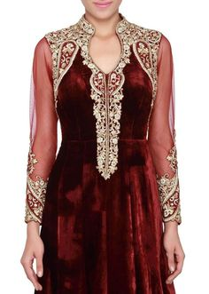 Caftan 2016 velours rouge bordeaux