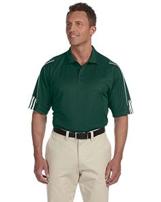 adidas Golf Mens climalite 3Stripes Cuff Polo A76 FORESTWHITEXL -- Read more reviews of the product by visiting the link on the image. Note:It is Affiliate Link to Amazon.