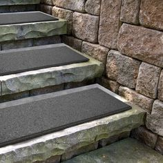 Flat Profile Grey Stair Tread - 10 Inch x 24 Inch Home Depot Shed, Stair Handrail, Railings, Porch Steps, Outdoor Stairs, Xeriscaping, Pond Design, Diy Fire Pit, Outdoor Living