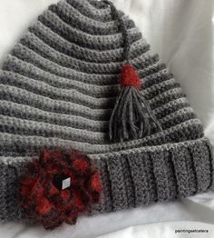 Accessorized hat by PaintingsEtcetera on Etsy