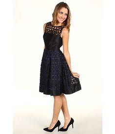 Bcbgmaxazria dress short-sleeve lace ponte sheath