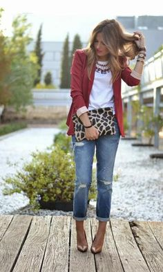 Look Burgundy + Print - Moda it | Moda It