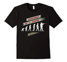 Evolution T Shirt, Gifts For Veterans, Veteran T Shirts, Military, Gift Ideas, Amazon, Marines, Mens Tops, Black