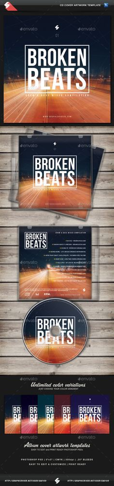 Bionic Sound - Trance CD Cover Artwork Template Cd cover - psd album cover template