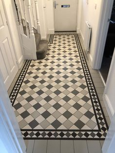 Tile shop in Derby supplying slate, marble, mosaic, porecelain, terracotta and victorian tiles for bathrooms and kitchens Entryway Tile Floor, Tiled Hallway, Bathroom Floor Tiles, Wall And Floor Tiles, Hall Flooring, Kitchen Flooring, Victorian Hallway Tiles, Victorian Flooring, Edwardian Hallway