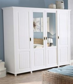 Kleiderschrank, Home affaire, »Emilia« | BAUR Onlineshop Tall Cabinet Storage, Locker Storage, Bedroom Built Ins, Home Decor Bedroom, Armoire, Entryway, Building, Interior, Furniture