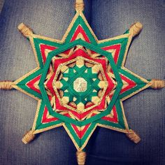 Items similar to Ojo de Dios Eye of God Yarn Mandala Money Talisman, Created by a Reiki Master Teacher. on Etsy Prosperity Spell, Art Alevel, Gods Eye, Thread Art, Folk Art, Upcycle, Weaving, Etsy Seller, Symbols