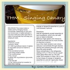 Singing Canary Concentrate by Gwen Elizabeth Brown