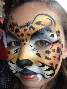 Booking agent for Lynn - Face Painter Girl Face Painting, Face Painting Designs, Body Painting, Cheetah Face Paint, Tiger Face Paints, Animal Face Paintings, Animal Faces, Maquillage Halloween, Cat Face
