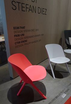 Salone del Mobile 2013: CH05 That chair by Stefan Diez for E15