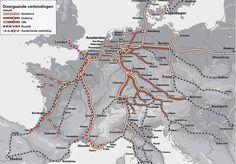 Doorgaande treinverbindingen Nederland -> Europa