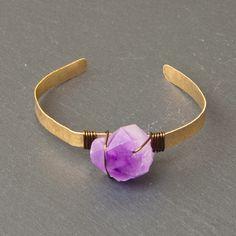Crystal cuff amethyst cuff raw amethyst crystal bracelet Amethyst Crystal, Crystal Bracelets, Bangle, Cuff Bracelets, Armband, Bangle Bracelet, Bracelets