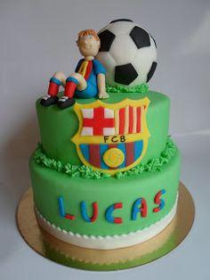 FC Barcelona soccer birthday cake