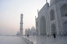 Mysterious Taj Mahal in Agra, India Taj Mahal, The Places Youll Go, Places To See, Wanderlust, Tumblr, Islamic Architecture, Beautiful Architecture, Beautiful Buildings, Grand Tour