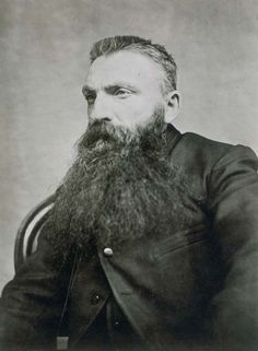 Adolphe Braun, Portait of Rodin with a crew cut, estimated 1889