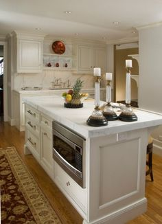 Kitchen Island With Microwave Diff Cabs But Like The Size
