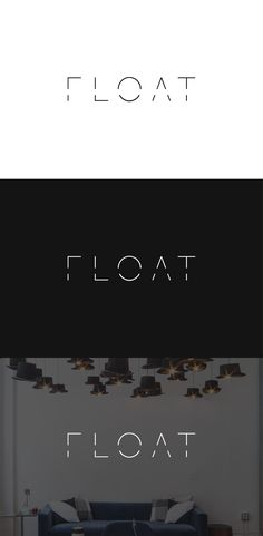 Logo design for float, a NY-based full-service design build firm that assists startups with everything from interior architecture to furniture sourcing. Designed by LET'S PANDA, Vancouver. #logo #branding #letspanda