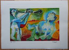 Pablo Picasso Lithograph  Limited edition by ValueVintagePrints