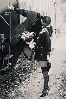 Kiss from a train.