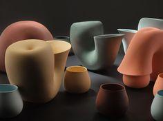 Dutch designer Aldo Bakker, 'Particles, Cup + Jug', presented at Object Rotterdam 2012.