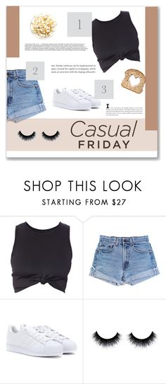 """""""Sin título #87"""" by florii17 ❤ liked on Polyvore featuring Levi's and adidas"""