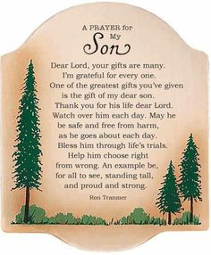 A prayer for my Son.