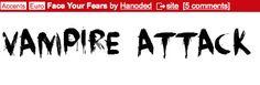 horror movie font