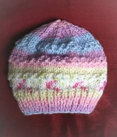 Crochet Baby Hats Ravelry: Roman Stitch Baby Hat pattern by marianna mel - Baby Cardigan Knitting Pattern Free, Baby Hats Knitting, Crochet Baby Hats, Baby Knitting Patterns, Knitted Baby Beanies, Knitted Hats, Baby Knits, Knitting For Charity, Baby Hat Patterns