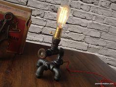 Edison Light  - Plumbing Pipe Lamp - Steam Punk Light - Mod Lamp - Steam Lamp. $185.00, via Etsy.