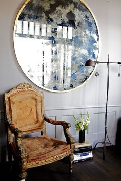love this large round mirror