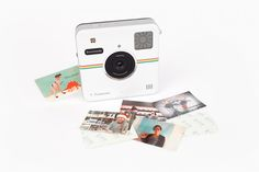 The Polaroid Socialmatic Camera: Edit, Add filters, graphics all right on the touchscreen then share right from the camera.