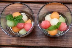 The melon ice cubes can be used  for sparkling drinks