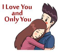 Romantic Moments 2 – LINE stickers Cute Love Pictures, Love You Images, Cute Cartoon Pictures, Cute Love Gif, Cute Love Lines, I Love You, My Love, Love Cartoon Couple, Cute Love Cartoons