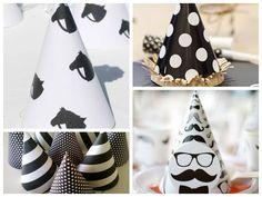 Chapéus para a festa preto e branco - Fotos: Pinterest