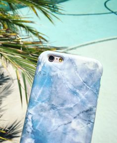 Marble case in Hampton Blue from Elemental Cases. Available for iPhone 6/6s and 6 Plus/6s Plus