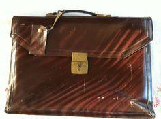 Top Grain Leather Attache Biefcase Midcentury by ChevyLovesLaura, $45.00