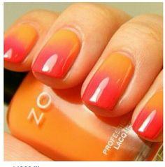 Blood orange nails