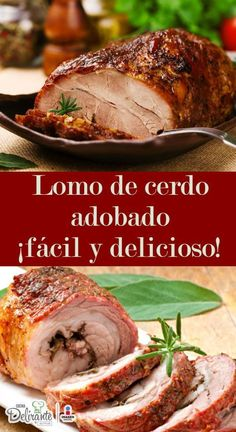 Learn how to prepare the most delicious marinated pork loin (easy recipe) - Navidad - Pork Recipes, Mexican Food Recipes, Kitchen Recipes, Cooking Recipes, My Favorite Food, Favorite Recipes, Colombian Food, Marinated Pork, Pork Dishes