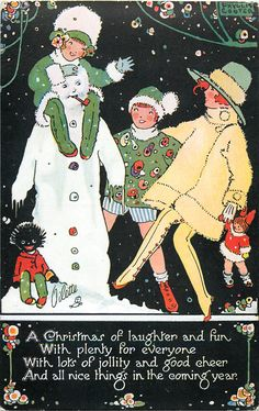 Oh, look, a cute vintage Christmas...but wait, what's that in the lower left corner!?!  WTF.