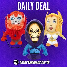 """Up to 67% Off Masters of the Universe Plush Thursday, January 29, 2015  IN STOCK NOW! She-Ra needs a hug. For one day only, get up to 67% off these fantastic Masters of the Universe plush. These adorable plush toys come to you """"By the Power of Grayskull"""" to bring the battle fought in the stars into your collection! He-Man, Orko, Skeletor, and the whole gang are available Limit 5 per person. http://tomatovisiontv.wix.com/tomatovision2#!action-figure/c1t9c"""