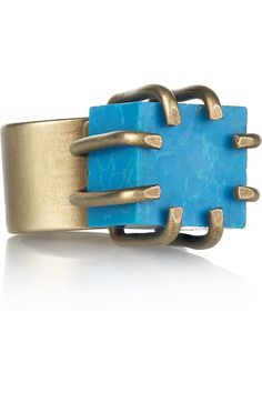 Kelly Wearstler  Turquoise cube ring $195 at Net-a-Porter ... 2012