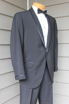 vintage 1960 s Sir King tuxedo set. Satin banded by StyleStash Tuxedo 8800883eab