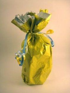 Using mylar balloons for gift wrap