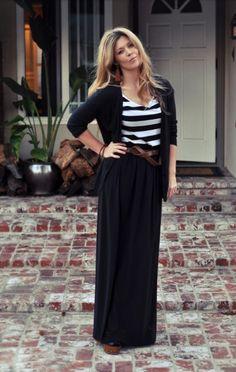 Maxi skirt, stripes