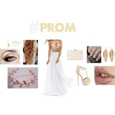 """#PROM - white & gold"" by louiselulle4 on Polyvore! Looks beautiful, don't you think? :)"
