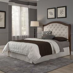 Home Styles Duet Queen/Full Tufted Diamond Camelback Headboard Black Leather, Brown Bedroom Furniture Stores, Bed Furniture, Online Furniture, Kitchen Furniture, Furniture Shopping, Furniture Companies, Furniture Deals, Kitchen Decor, Leather Headboard