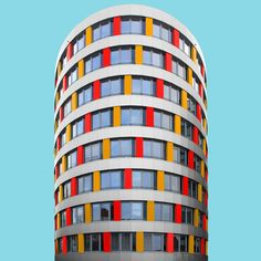 Colourful Berlin: Photography architecture essay by Paul Eis from Germany German Architecture, Colour Architecture, Contemporary Architecture, Architecture Details, Minimalist Architecture, Architecture Student, Unique Buildings, Beautiful Buildings, Beautiful Places