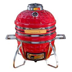 Vision Grills Diamond-Cut Cadet Kamado Grill (Crimson Red) - You need this!What are the features of Vision Grills Diamond-Cut Cadet Kamado Grill (Crimson Red)Th Best Charcoal, Charcoal Grill, Ceramic Grill, Kamado Grill, Cool Fire Pits, Propane Gas Grill, Best Ceiling Fans, Fire Ring, Fire Pit Table
