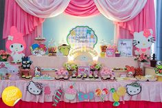 It's always a treat to showcase on the blog the beautiful creations of Jo-Ann of Sweet Creations by Mums, like this Sanrio Themed Dessert Table for a little g