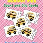 School Bus Count and Clip Cards Sets to 10  School Bus Count and Clip Cards provide an inviting math center for learners to practice counting sets ...